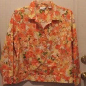 BlueJeanJcket - Orange,Pink,Yellow w glitters - XL